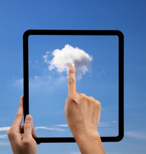 Image of cloud within a tablet
