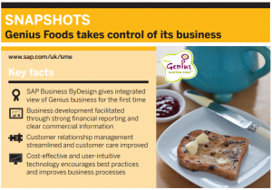 image of Genius foods case study of business bydesign