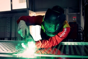 Welder working in a Manufacturing factory