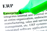 ERP A picture of a highlghter pen on the words Enterprise Resource Planning