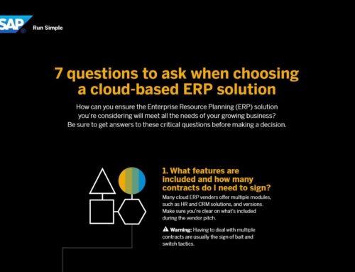 7 Questions When Choosing Cloud ERP