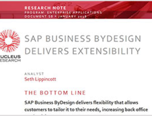 SAP Business ByDesign Delivers Extensibility – Resource Note