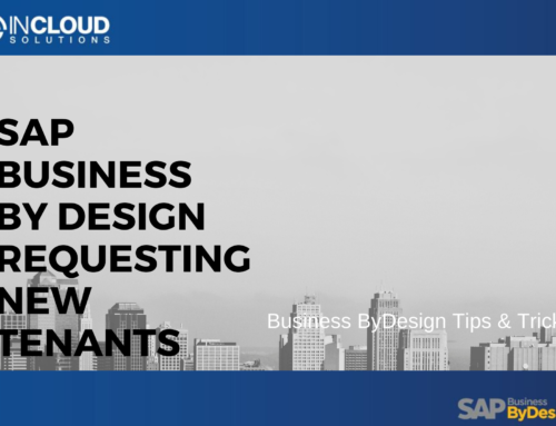 SAP Business ByDesign – Requesting New Tenants