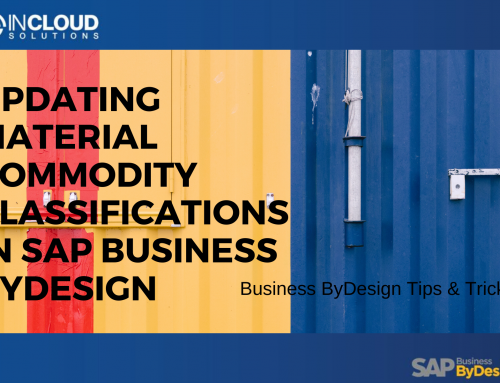 Updating Material Commodity Classifications in Business ByDesign
