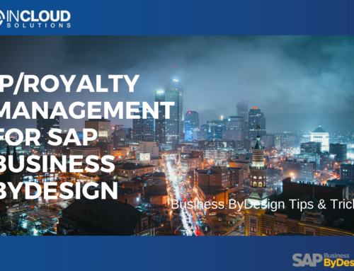 IP/Royalty Management for SAP Business ByDesign