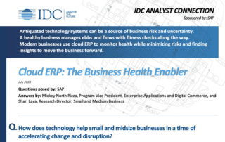 Cloud ERP - The Business Health Enabler