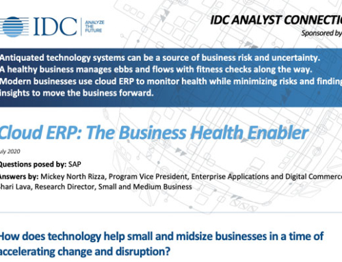 Cloud ERP – The Business Health Enabler