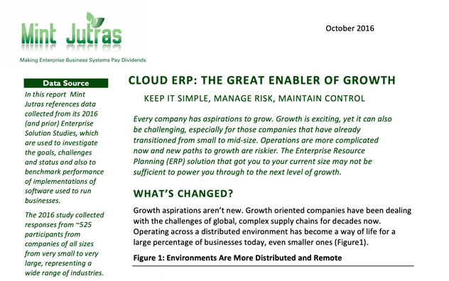 Cloud ERP The Great Enabler Of Growth