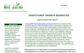Divestitures Growth Redirected Can Cloud ERP Help