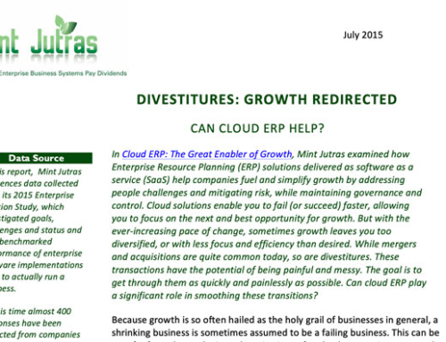 Divestitures: Growth Redirected. Can Cloud ERP Help?