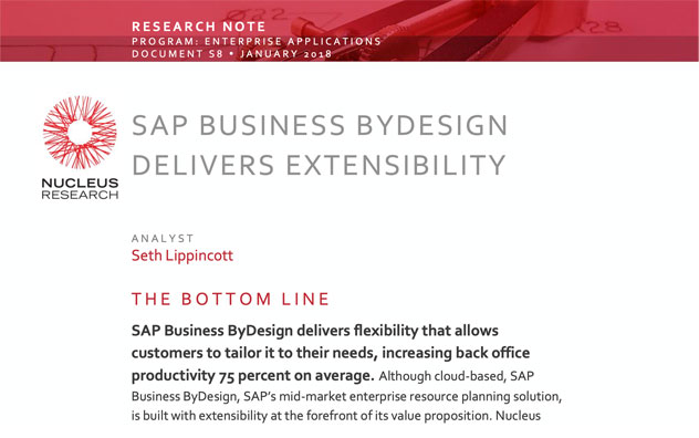 SAP Business ByDesign Delivers Extensibility Resource Note