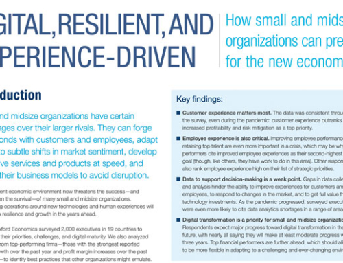 Digital, Resilient And Experience-Driven