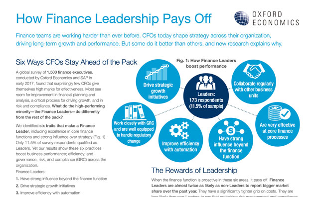 SAP Business ByDesign Whitepaper How Finance Leadership Pays Off