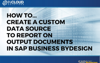 How to create a custom data source to oreport on output documents