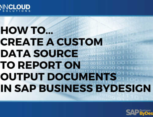 Create Custom Data Source to Report on Output Documents