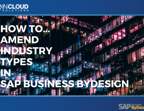 Amending Industry Types in SAP Business ByDesign