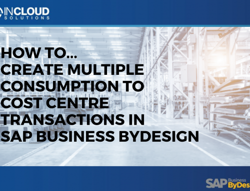 How to create X consumption to cost centre transactions